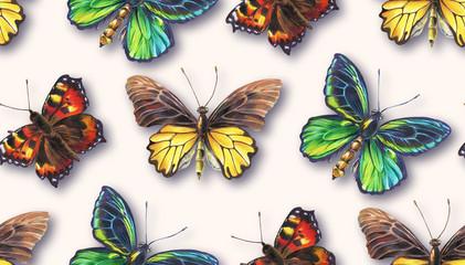 Seamless pattern with butterflies