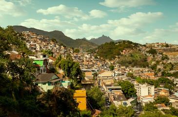 Fotomurales - Favela in Rio de Janeiro city, Brazil