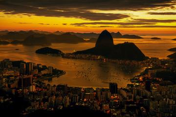 Wall Mural - Rio de Janeiro city at sunset, Brazil