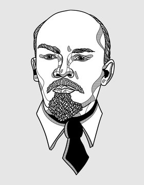 Vladimir Lenin portrait.