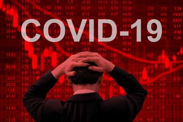 Covid-19 epidemic making world economy in serious crisis Papier Peint
