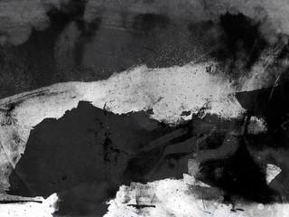Abstract Landscape Black White Grey Grunge Background Overlay