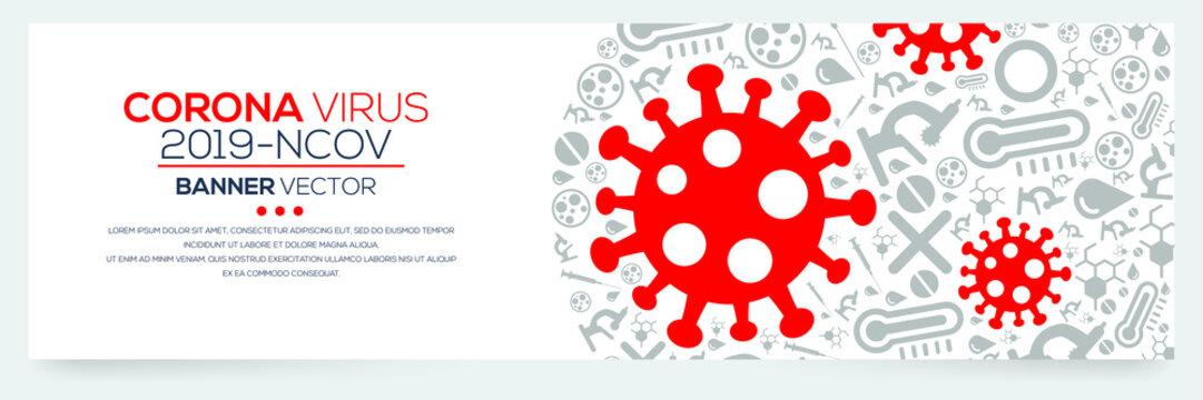 Creative (Corona virus -2019-nCoV ) Word with Icons ,Vector illustration.