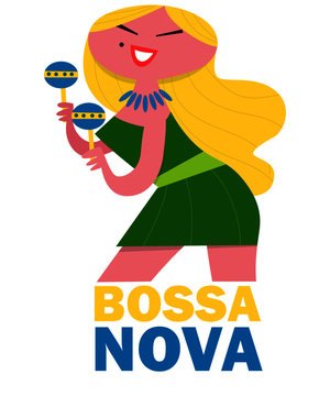 Bossa Nova Woman with Shakers