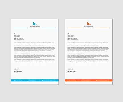 Letterhead Corporate Business Template Design