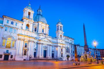 Fotomurales - Rome, Italy - Piazza Navona nightscene square