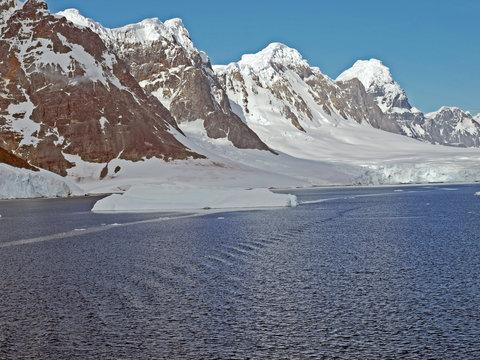 Small ice floe in the Bismarck Strait, Antarctic Peninsula