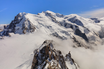 Wall Mural - Mont Blanc massif in the French Alps
