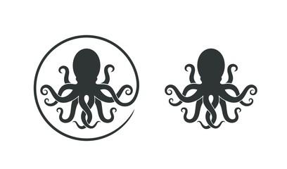 Octopus logo. Isolated octopus on white background