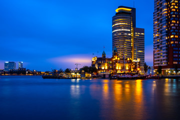 Fotorollo Rotterdam Rotterdam bei Nacht New York Holland Line