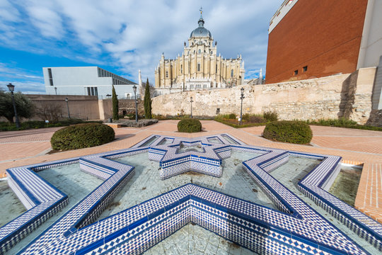 Cathedral of La Almudena and Arab Wall (Madrid, Spain)