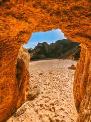 Foto auf Leinwand Rot kubanischen Algarve coast and beaches in Portugal