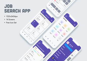 Job Search App UI Layout