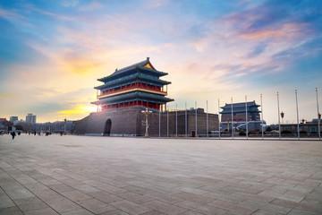 Fotobehang Oude gebouw Qianmen or Zhengyangmen Gate in Beijing, China