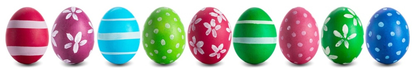 Easter egg collection isolated on white