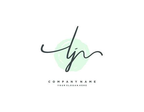 LJ initial letter elegant handwriting logo collection