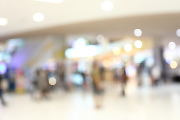 abstract image blur background of people lifestyle in modern shopping mall