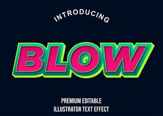 Foto auf Leinwand Pop Art Blow - 3d Illustrator Text Effect font Style