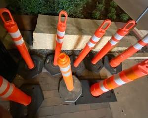 Traffic Pedestrian Orange Cones