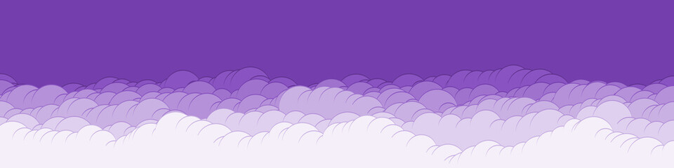 Papiers peints Prune Abstract Color Clouds Sky Generative Art background illustration