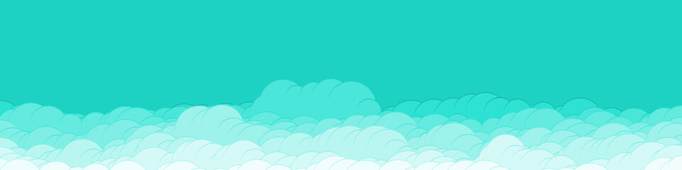 Papiers peints Vert corail Abstract Color Clouds Sky Generative Art background illustration