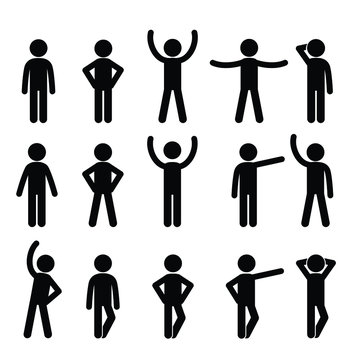Stick figure with different poses