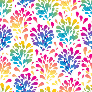Colorful abstract seamless pattern made from various spatters