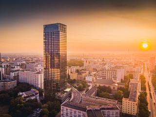 Warszawa z lotu ptaka - fototapety na wymiar