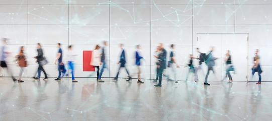 Fototapeta Digitale Vernetzung von Geschäftsleuten als Konzept obraz