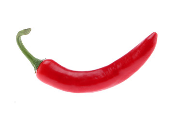 Canvas Prints Hot chili peppers Chili pepper isolated on white background. Ripe chili pepper Clipping Path