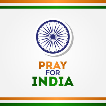 Pray For India Vector Design For Banner or Background