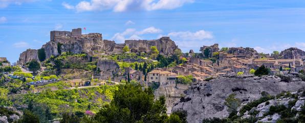Foto op Plexiglas Lavendel Les Baux-de-Provence village, Provence, France