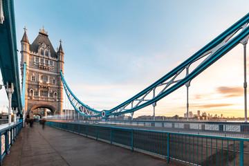 Beautiful Tower bridge in London at sunrise Wall mural