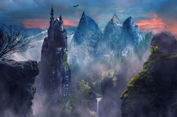 castle on the hill Wall mural