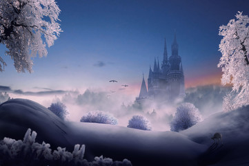 fantasy castle  Wall mural