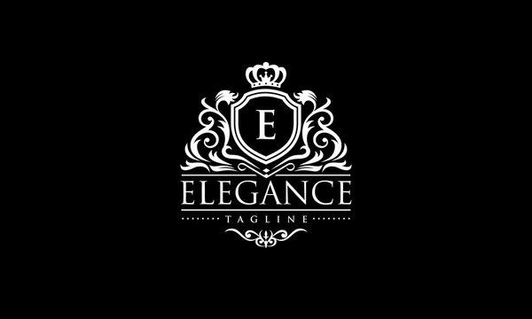Elegance Logo - Royal Crest Vector