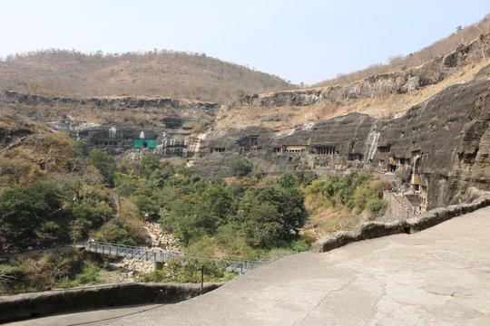 Ajanta Buddhist heritage sites, painting, Aurangabad, India