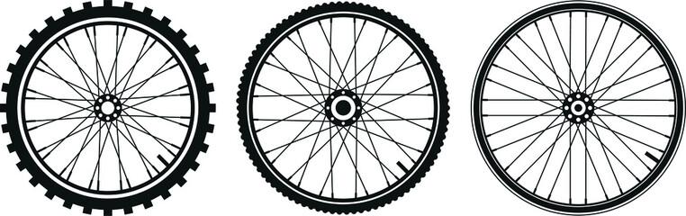 Slats personalizados esportes com sua foto tre tipi di ruota di bicicletta in vettoriale