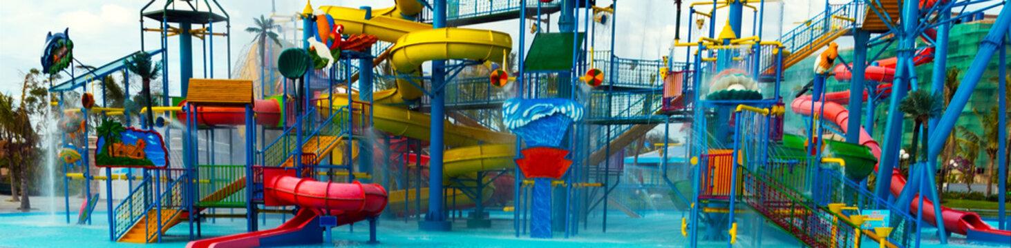 Waterpark water slide