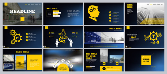 Business presentation turquoise, design template infographic elements on white background. Teamwork of people in the city, businessman. Use in presentation, corporate report leaflets, marketing banner