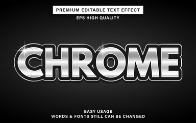 Wall Mural - chrome editable text effect