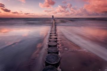 Door stickers Lavender Sunset over the Baltic Sea, Pobierowo, Pustkowo, Trzęsacz, Bałtyk, Poland