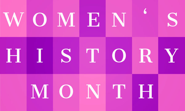 Women's History Month - card, poster, template, background. EPS 10