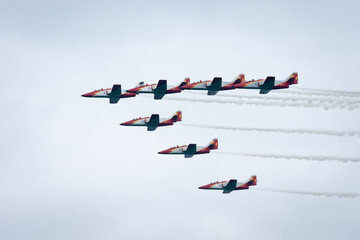 Patroi Suisse in formation at an airshow