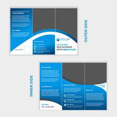 Corporate Tri Fold Brochure Design and Template.
