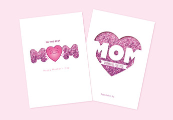 Glitter Mother´S Day Card Set Layout
