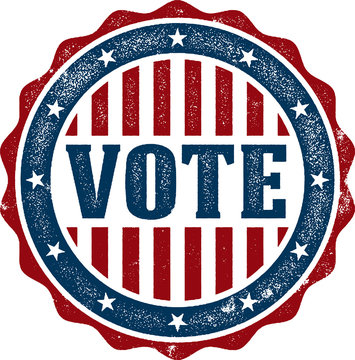 USA Vote Election Rubber Stamp