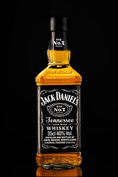 Bottle of whiskey Jack Daniels