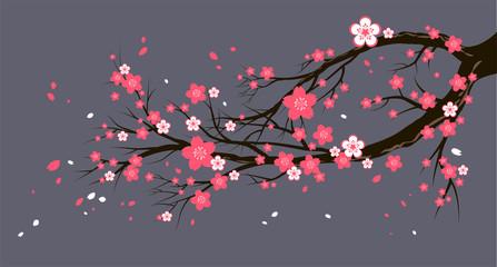 Seasonal cherry tree with flowers