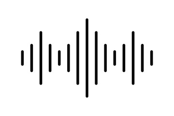 Audio or sound vector icon. Digital sound wave icon or sign. Equalizer music flat icon. Music radio sound wave.